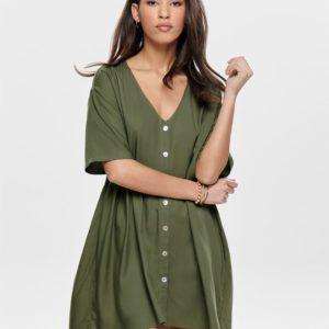 Платье ONLY зеленое