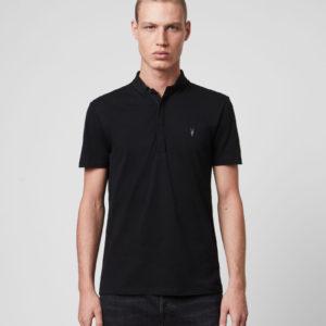 Мужская футболка поло ALLSAINTS GRAIL SHORT SLEEVE POLO SHIRT black