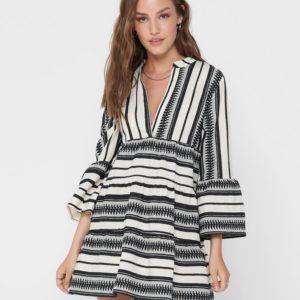 Женское платье ONLY mini черно белое